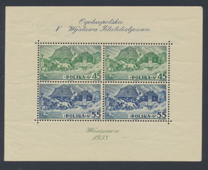 Poland 1938/1963 - Group of blocks and Kleinbogen MNH - Michel Bl. 5A/5B, 1101 KLB, 1177KLB, 1294/96C KLB, Bl. 31 I/II