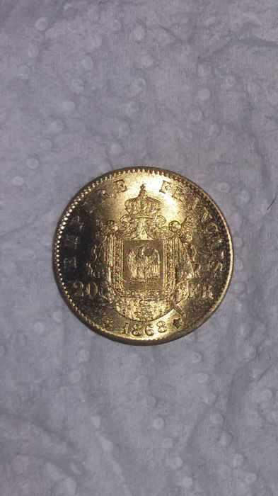 20 Francs 1868 A Napoleon III - Or