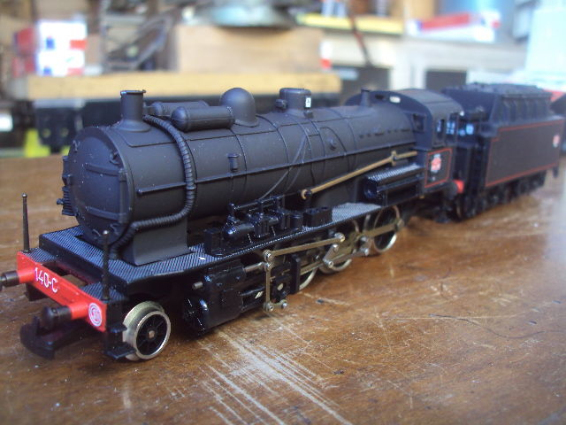 Jouef H0 - 8283 - Steam locomotive with tender - Serie 140. C - SNCF