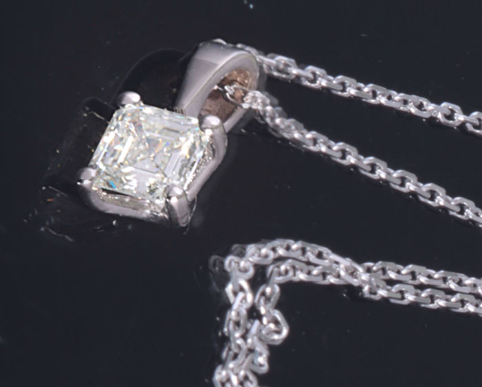 14 karaat Witgoud - Hanger - 0.45 ct Diamant