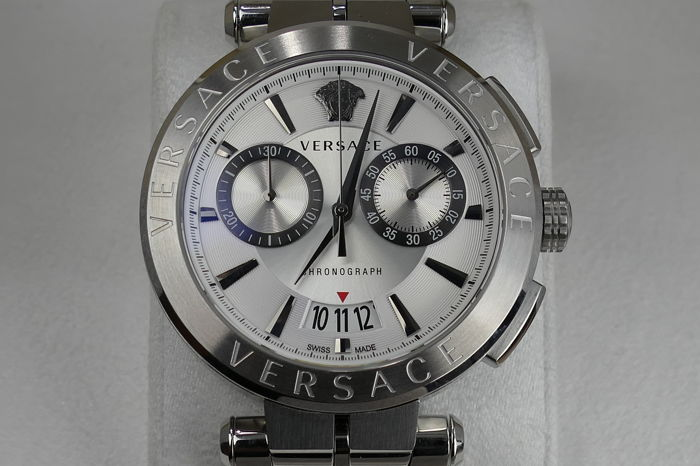"Versace - AION Swiss Made Chronograph - VBR040017 - ""NO RESERVE PRICE"" - Uomo - 2018"
