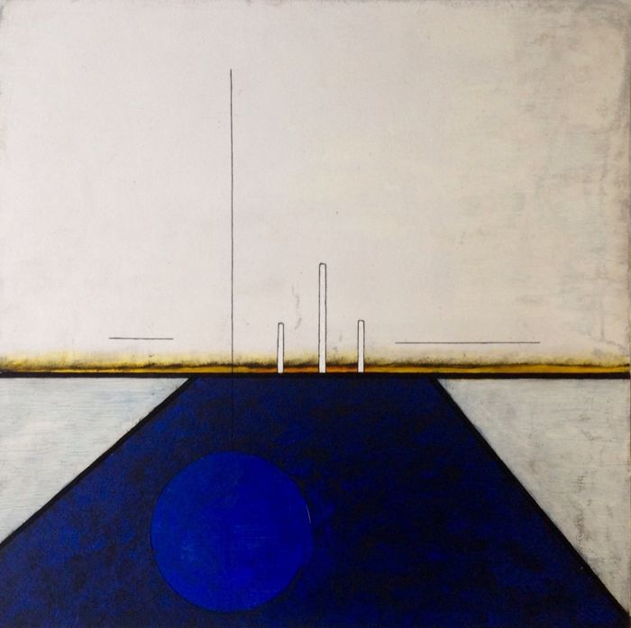 Paulus Noomen - Somewhere/composition in blue yellow 6161