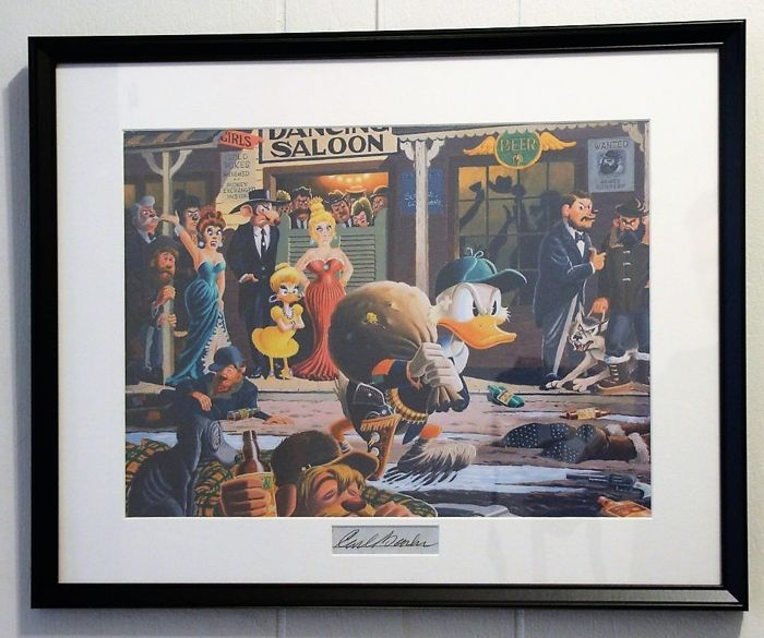Carl Barks print with signature insert - Nobody's Spending Fool - anders - (1996)