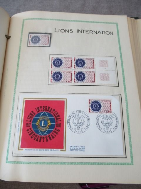 France 1967/1968 - Collection of 1st day and blocks of stamps
