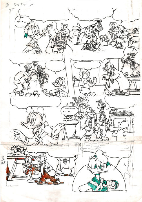 Vícar - Original Production Drawing - Donald Duck - Originele kunst - (1998)