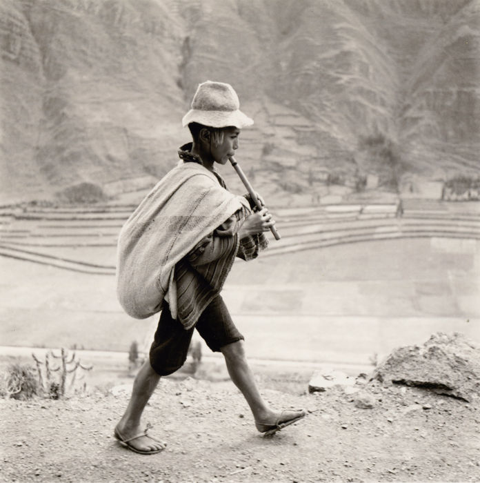Werner Bischof (1916-1954)/Magnum Photos - 'A flute player on the road to Cuzco', 1954