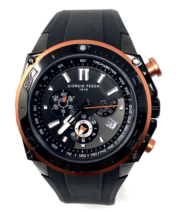 "Giorgio Fedon 1919 - Speed Timer Black Orange Tone - ""NO RESERVE PRICE"" - GFAP003 - Heren - 2019"