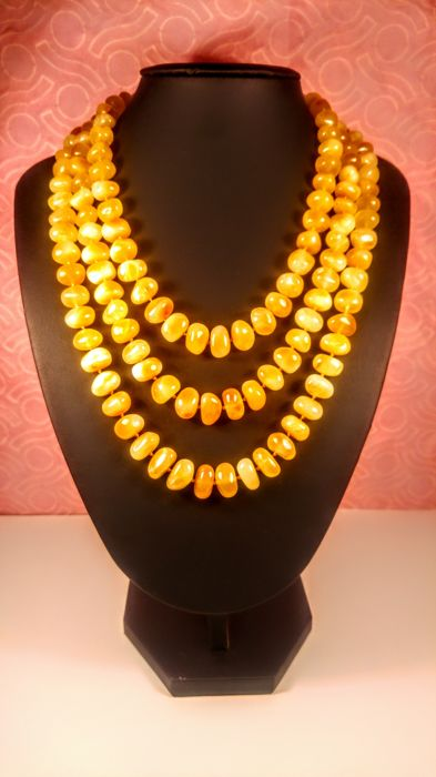 Amber - Necklace - Natural (untreated)