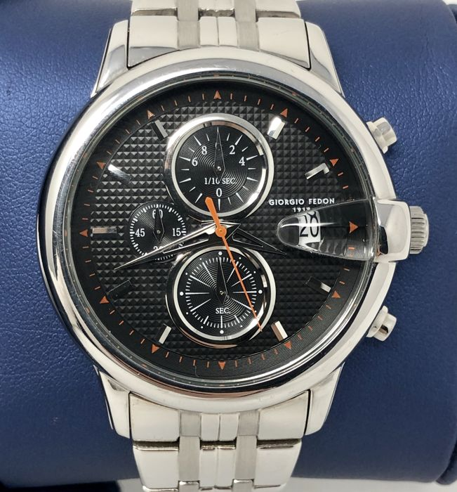 "Giorgio Fedon 1919 - Chronograph Hawk Eye Black Dial ""NO RESERVE PRICE"" - GFAC005 - Men - BRAND NEW"