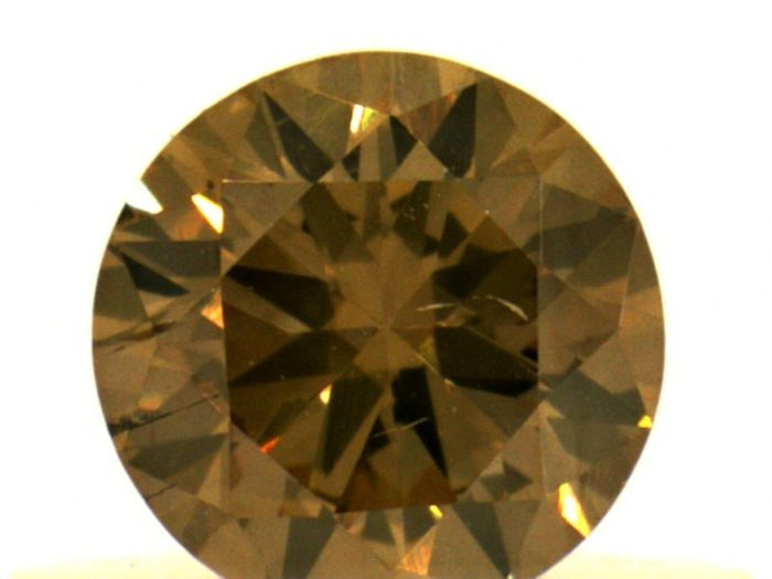 Diamant - 0.34 ct - Brillant - Fancy Deep orange- braun - IGI Antwerp - No Reseve Price, SI2