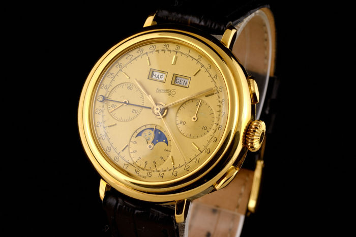 Eberhard & Co. - Rare Limited Triple Date Moonphase Chronograph Gold 18K  - 32001/57 - Uomo - 1980-1989