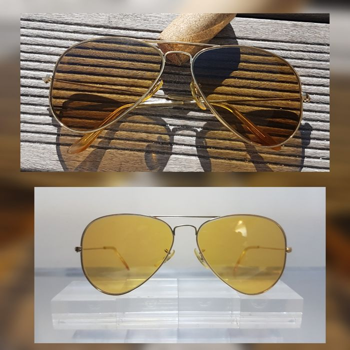 Bausch and Lomb Ray Ban USA  - Aviator Ambermatic - All Weather Sunglasses