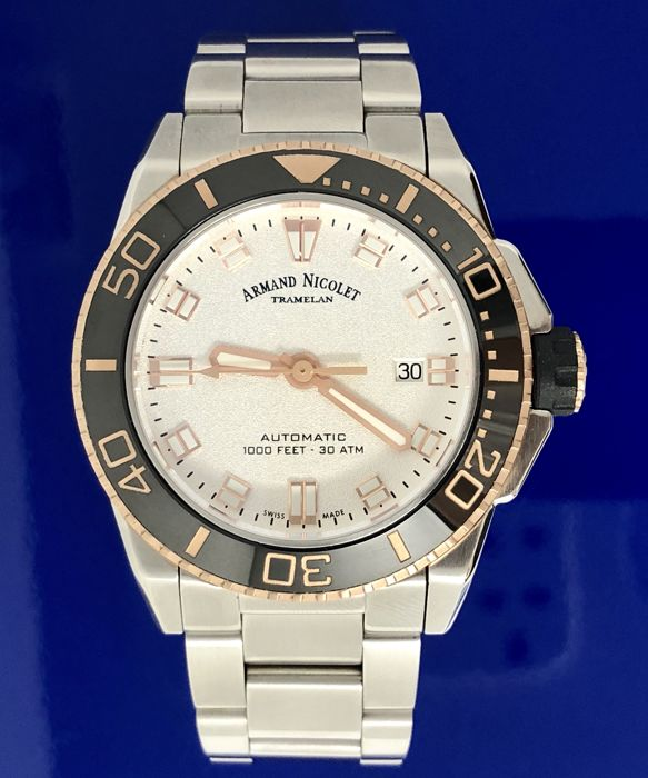 Armand Nicolet - Automatic JS9 White Dial Steel band Swiss Made  - A480AGN-AG-MA4480AA - Men - Brand New