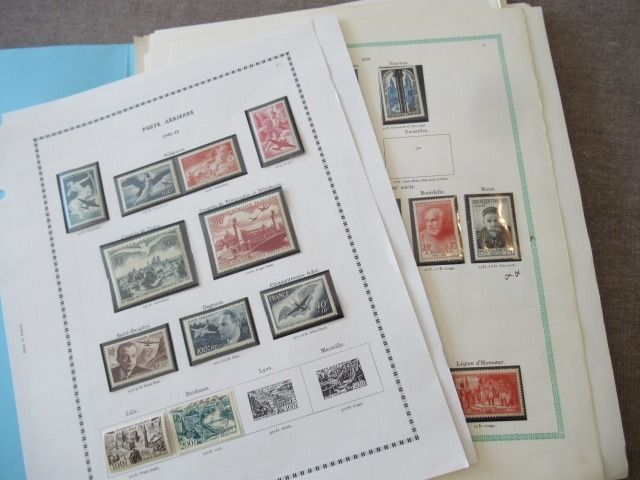 France 1941/1990 - Collection of stamps including airmail