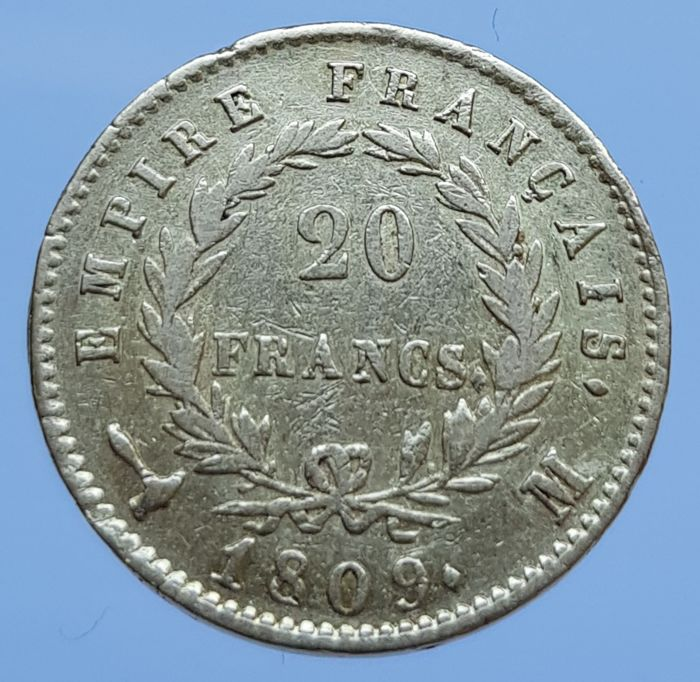 France - 20 Francs 1809-M (Toulouse) Napoleon - Or