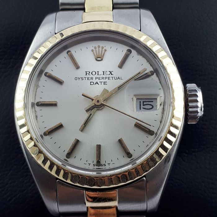 Rolex - Oyster Perpetual Date Gold& Steel  - Mujer - 1970-1979