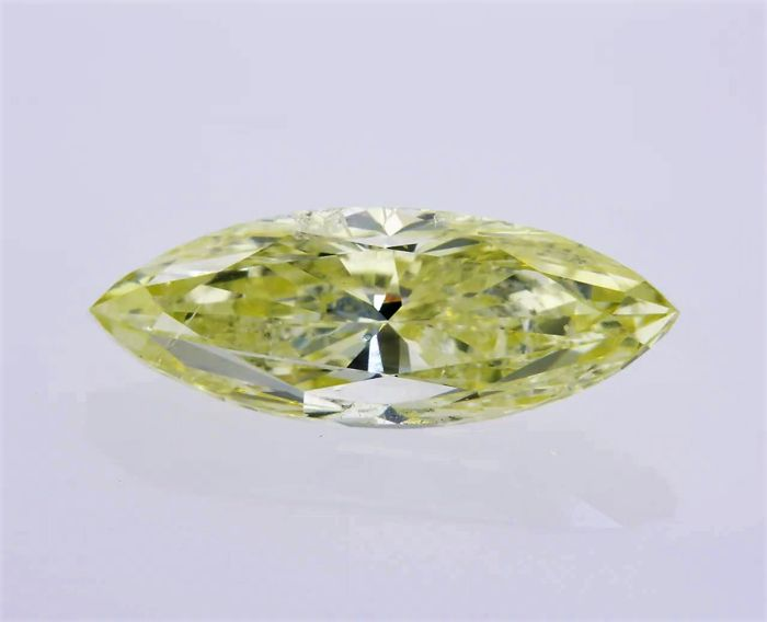 1 pcs Diamant - 1.96 ct - Markies - fancy light yellow - GIA