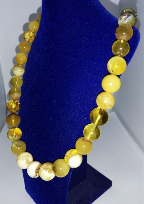 Amber, Zilver - Ketting