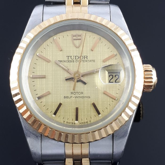 Tudor - Princess Date Automatic, Gold / Stainless Steel - Ref: 92413 - Dames - 1990-1999