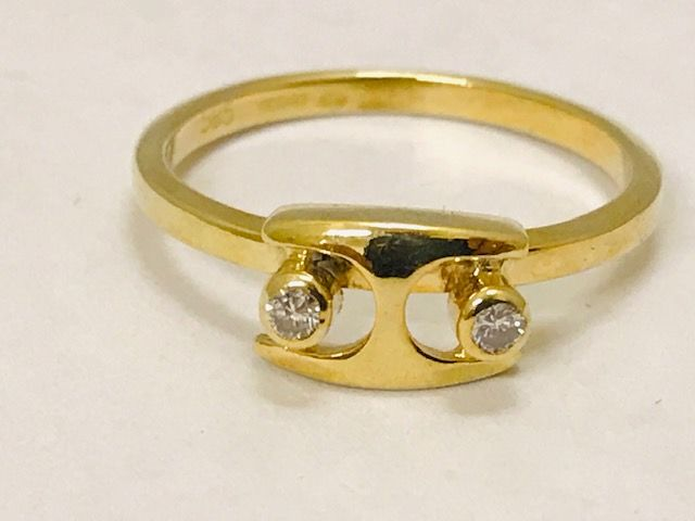 Desiree - 14 kt. Yellow gold - Ring - 0.06 ct Diamond