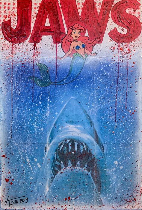 Alvin Silvrants - Disney Jaws movieposter sexy little mermaid boobs