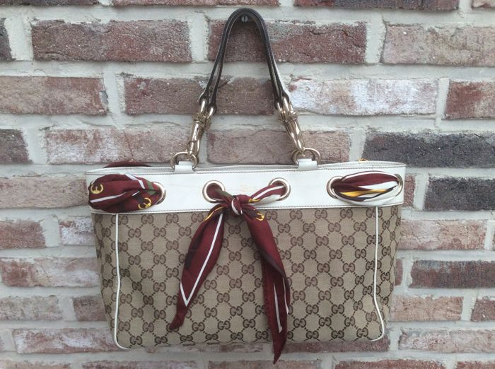 Gucci - Positano Bag with Scarf  Handtas