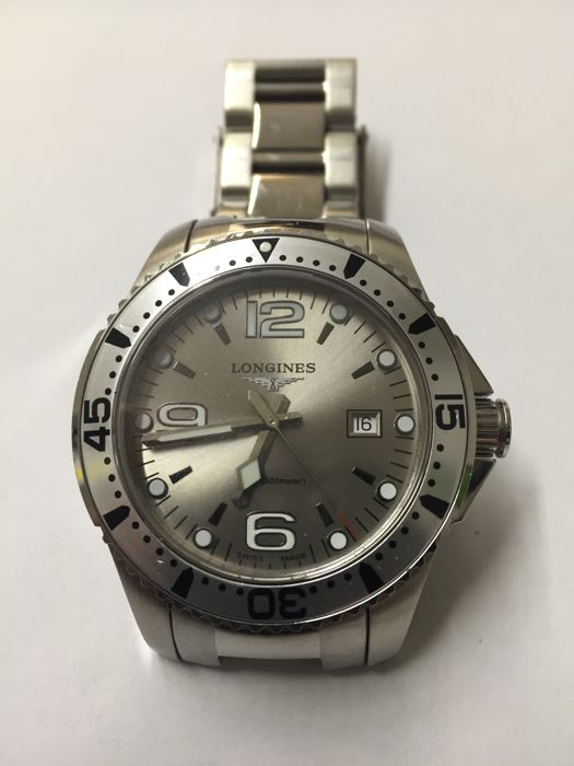 Longines - HydroConquest Grey Dial - L3.640.4 - Heren - 2000-2010