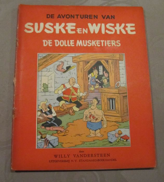 Suske en Wiske RV-18 - De Dolle Musketiers - Stapled - First edition - (1953)