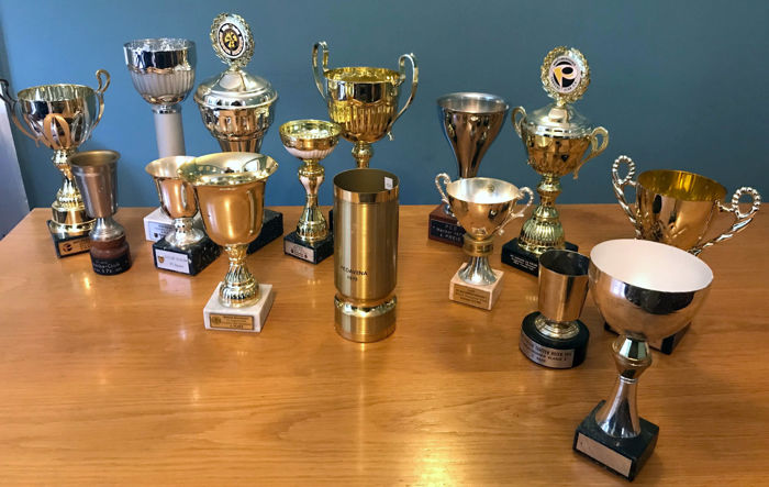porsche cups  - 15 Porsche Trophy cups 1970s to 2014  Great collection  - 1974-2013 (15 items)