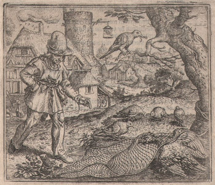 Marcus Gheeraerts (1520-1590) - Hauick ende Cockuut - Rare first edition of this etching