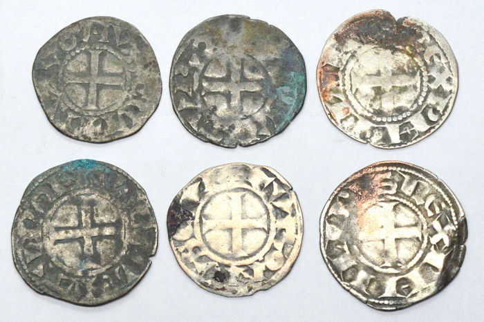 France - Lot of 6 deniers tournois - Argent