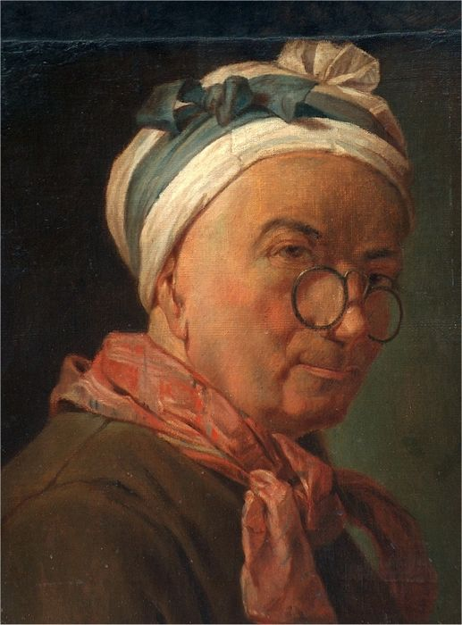 Europese School (19e eeuw) - Portrait of  a Man with headscarf and glasses