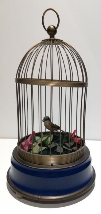 Singing bird automaton - Brass, Feathers, Steel - Second half 20th century
