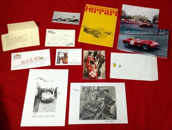 Photos, Mags, Cards - rare nice Miscellany Ferrari Literature Lot - look  - 1975-2005 (12 items)