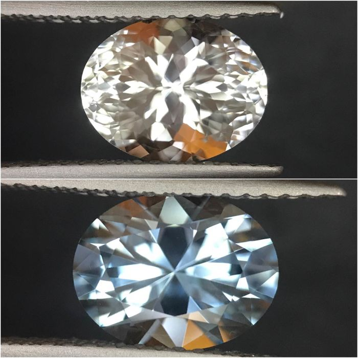 2 pcs Blue, White Topaz - 4.69 ct