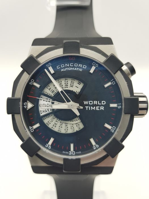 """Concord - World Timer C1 - 01.6.30.1043 """" NO RESERVE PRICE"""" - Heren - 2000-2010"""