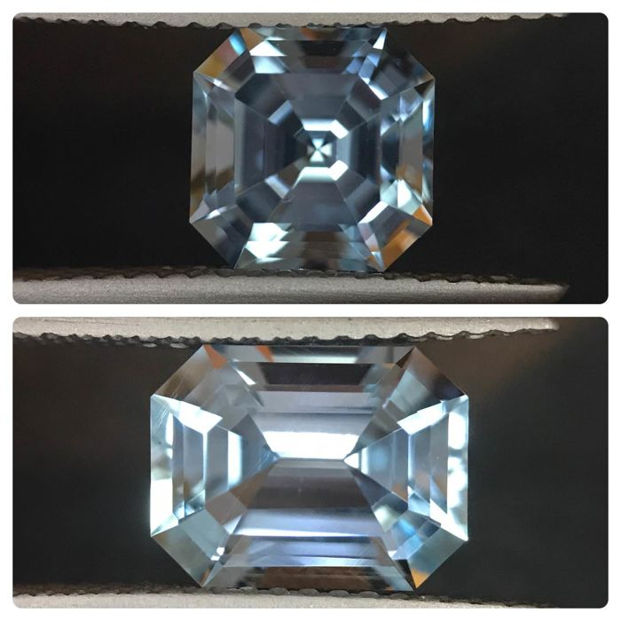 2 pcs Blue Topaz - 4.85 ct