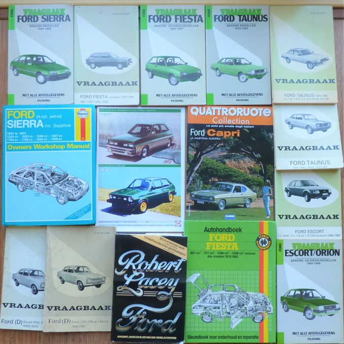 Boeken - Ford documentatie o.a. Escort, Capri, Fiesta, Taunus, Sierra - 1969-2008 (20 items)