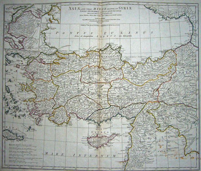 Turkey, ;; Laurie & Whittle - Asiae Minor et Syriae - 1781-1800