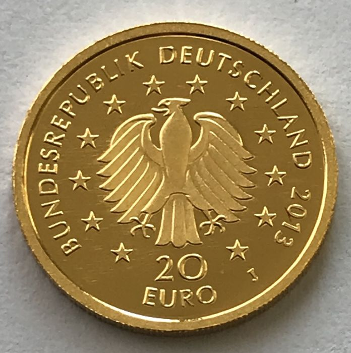 Germany - 20 Euro 2013 J - Deutscher Wald Kiefer - Gold