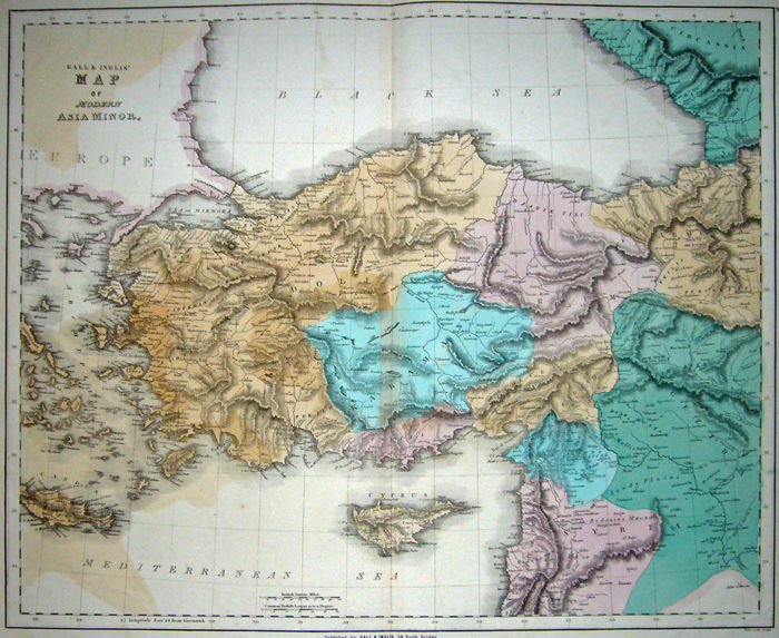 Turkey; Gall & Inglis - Map of Modern Asia Minor - 1821-1850