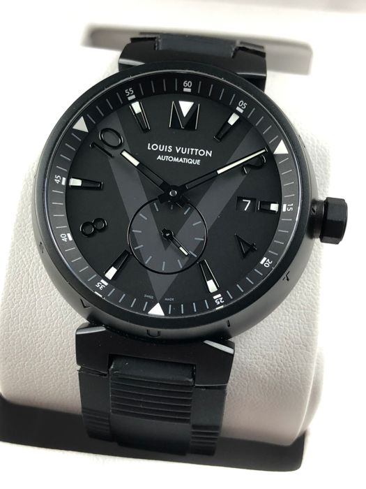 Louis Vuitton - Tambour Automatic All Black - Q1D22 - Uomo - 2011-presente