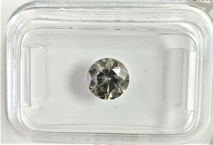 Diamond - 1.00 ct - Brilliant - fancy deep grey - No Reserve Price, SI2