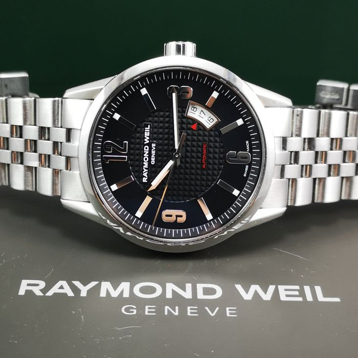 Raymond Weil - *With Box* Freelancer Automatic Black Dial Watch w/Original Band - 2730 - Heren - 2011-heden