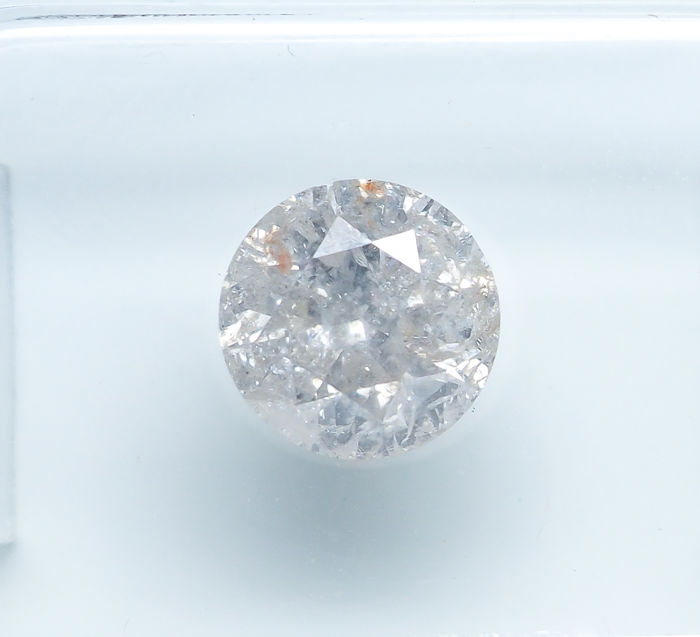 Diamant - 1.31 ct - Natural White - K color - I3 *NO RESERVE*