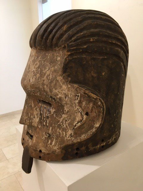 Initiation mask (1) - Wood - Congo DRC