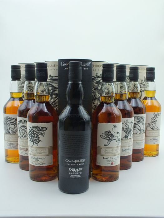 Diageo Game Of Thrones Single Malt Complete Whisky Set 70 Cl 8