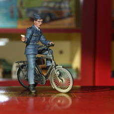 Britains - 25018 - Figure WAAF with Bicycle 1943 - 1940-1949