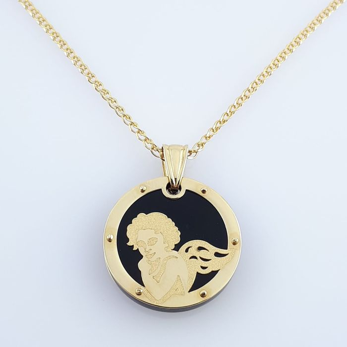 14 kt. Yellow gold - Necklace with pendant