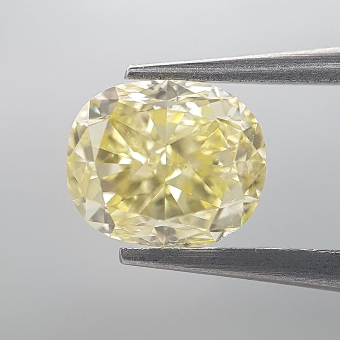 Diamant - 1.24 ct - Cushion - fancy yellow - GIA Colored Certified